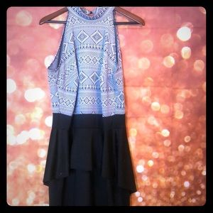 Tribal Peplum Dress
